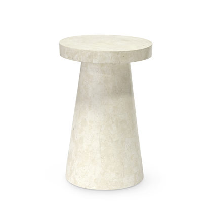 Foley Stone Outdoor Side Table Tall White In 2020 White Side Tables Side Table Side Table Wood