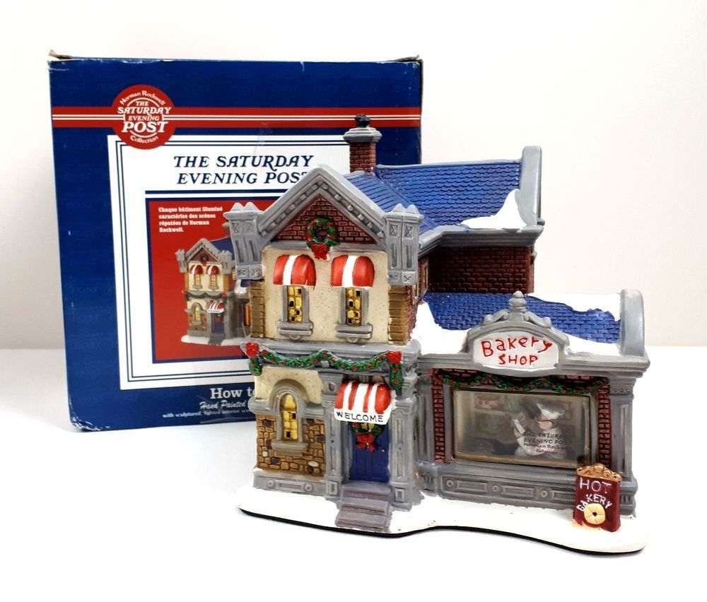 Christmas Village Saturday Evening Post Collection Bakery