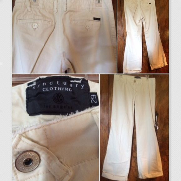 Sanctuary Clothing khaki dress pant; size 29 Cropping at bottom; never worn, not my size. Great pant Sanctuary Pants