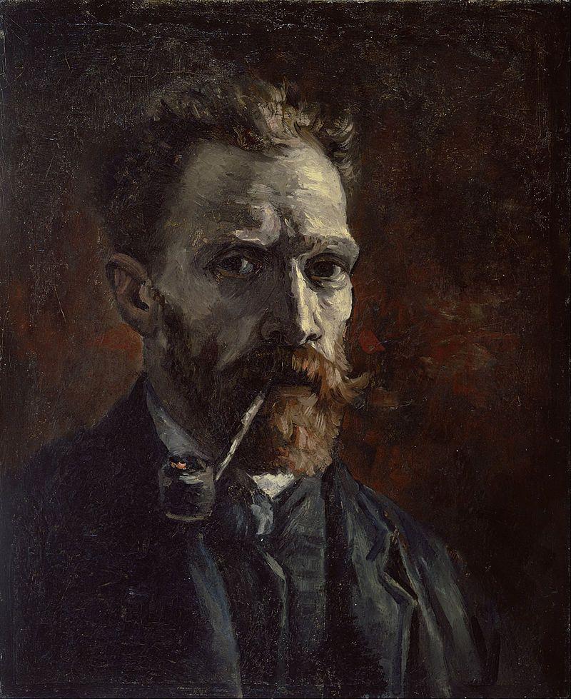 Vincent van Gogh - Self-portrait with pipe