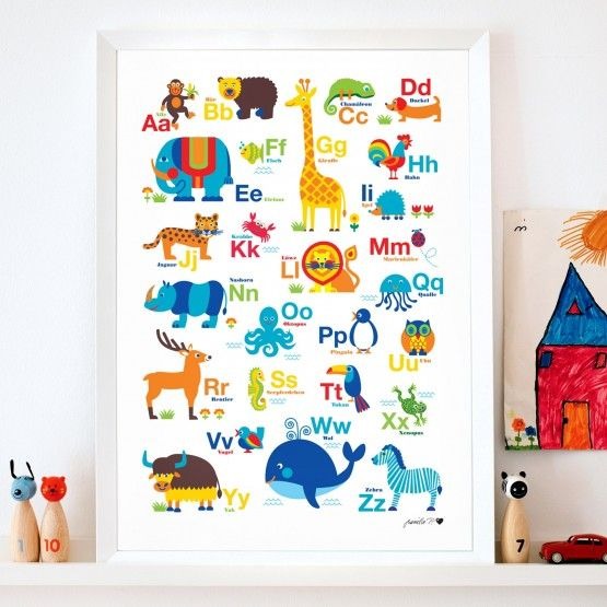 Tier-ABC Poster / Super süßes ABC Poster mit Tieren! | Ideen fürs ...