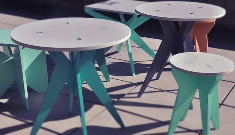 Gamba Furniture by Lucia de Santibanes & Natalia Clarens