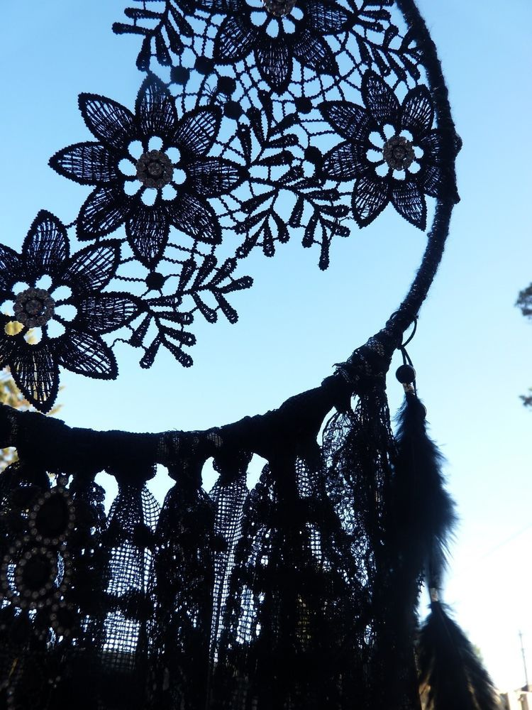 Handmade Black Beauty Gypsy Gothic Dream Catcher Bohemian
