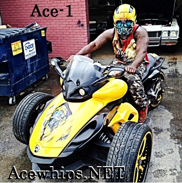Ace-1-- AceWhips.NET :::: Yellow Can-Am Spyder Bike On 20