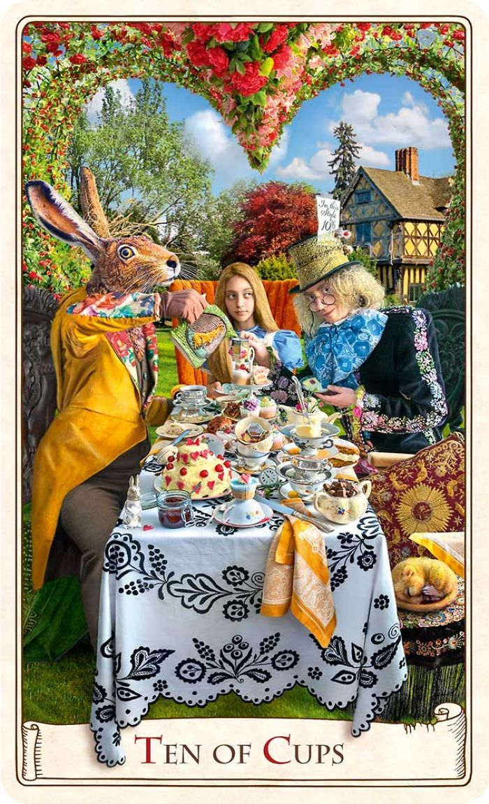 Mad Hatter's Tea Party ~ Tarot card illustration from Baba Studios ...