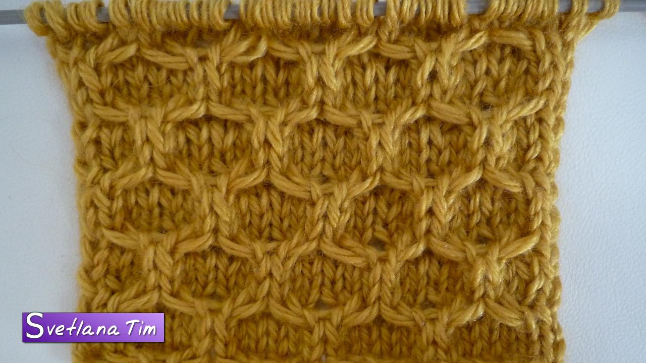 Вязание крючком узор соты