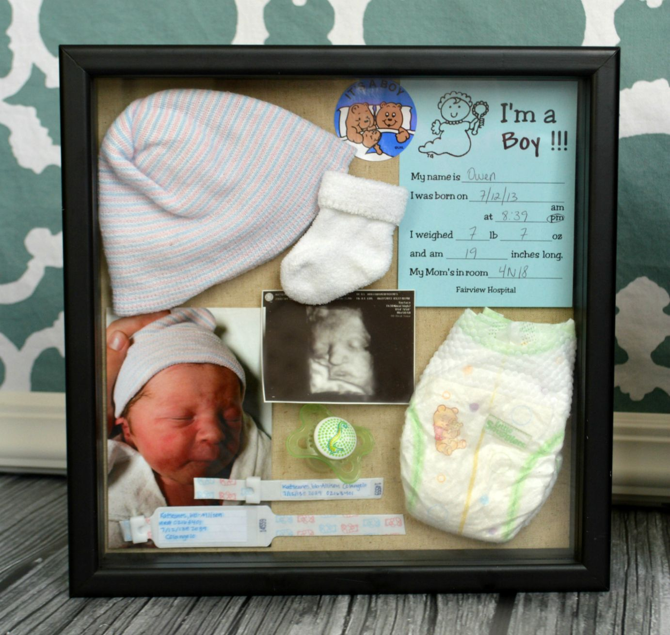 How to create adorable baby birth boxes. So easy and beautiful to ...