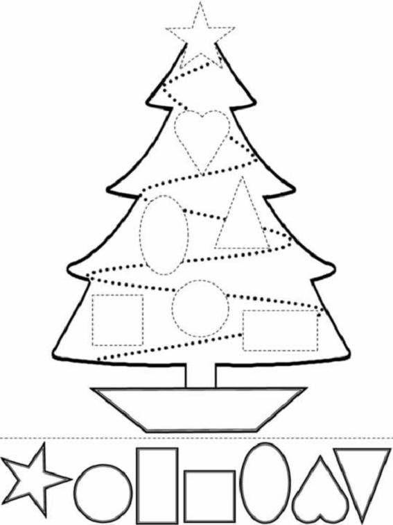 Dibujos de Navidad para pintar e imprimir | Kinder Ideas