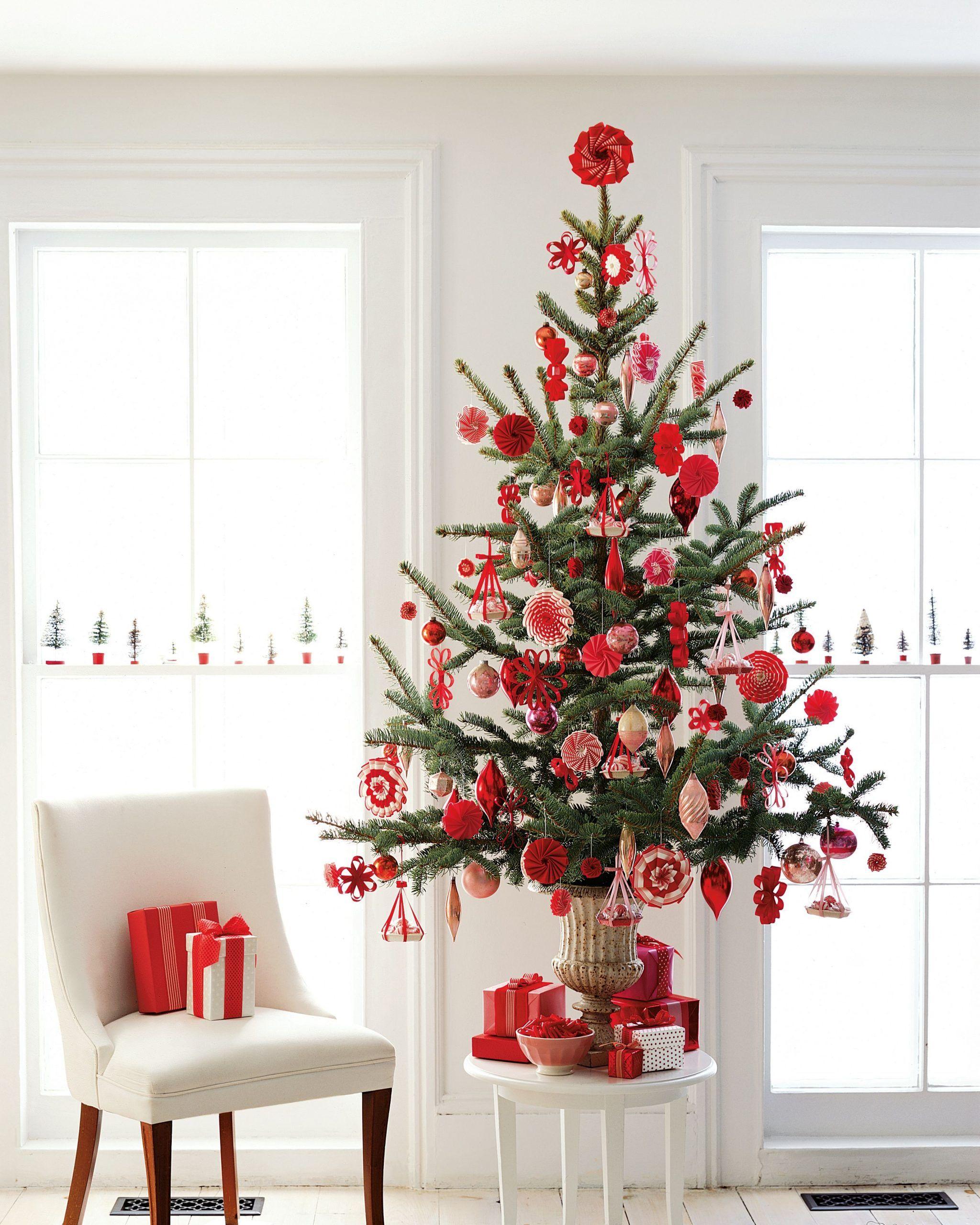 Creative Christmas Tree Decorating Ideas Martha Stewart White Tree Decorationchristmas