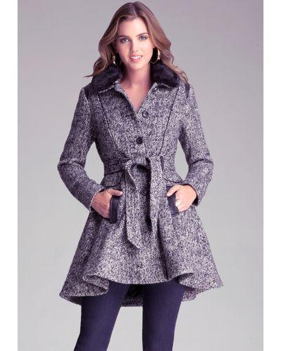 20332b68b94 Women s Black Fit Flare Wool Coat in 2019