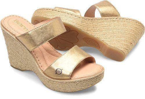 35b3cb190fd7 Born Aakash in Gold Metallic - Born Womens Sandals on Bornshoes.com Cork