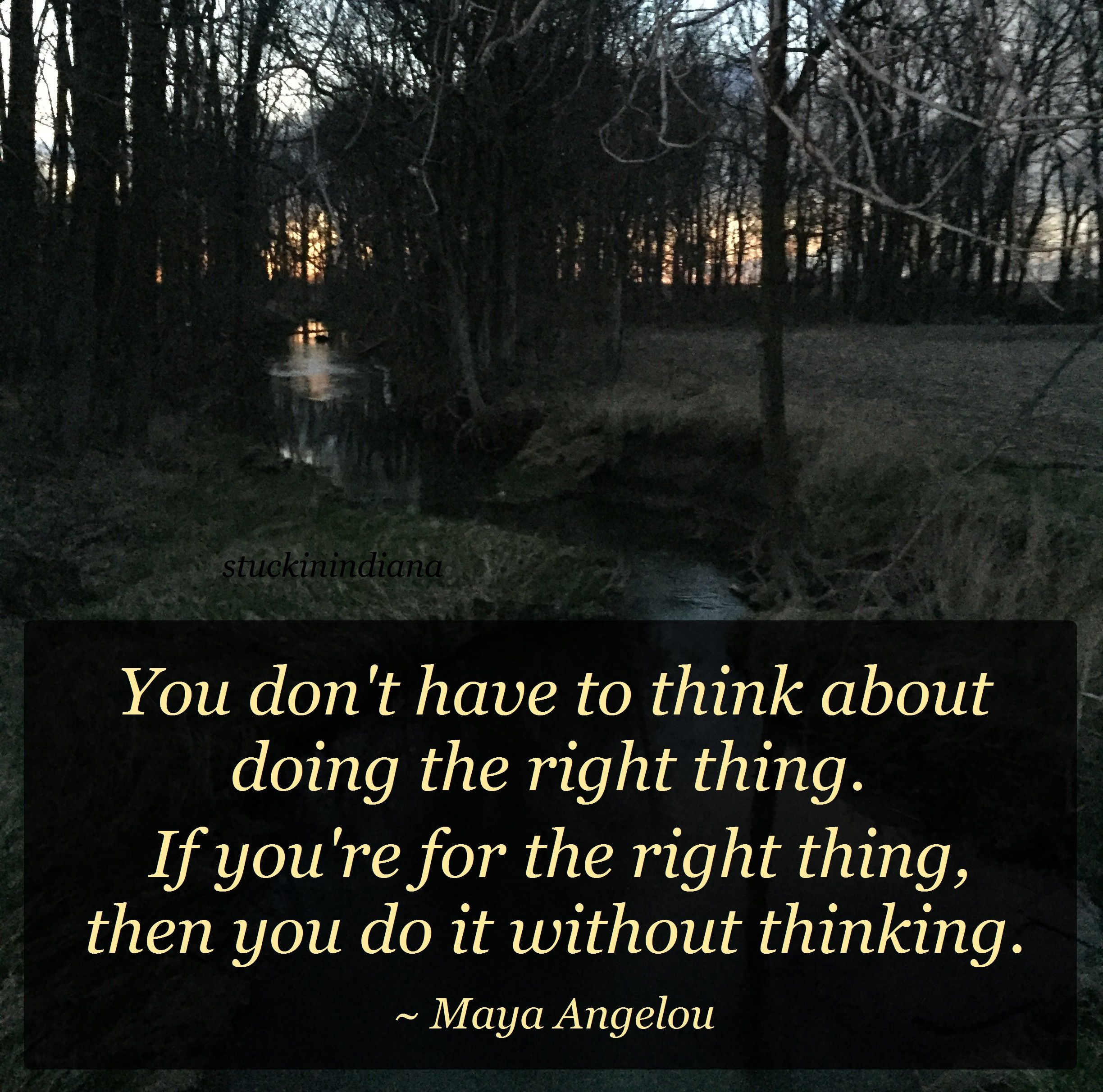 Right thinking Right doing