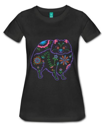 73e6a67b7 Women's Color Sugar Skull Pomeranian Tee Shirt | POMERANIANS <3 <3 ...