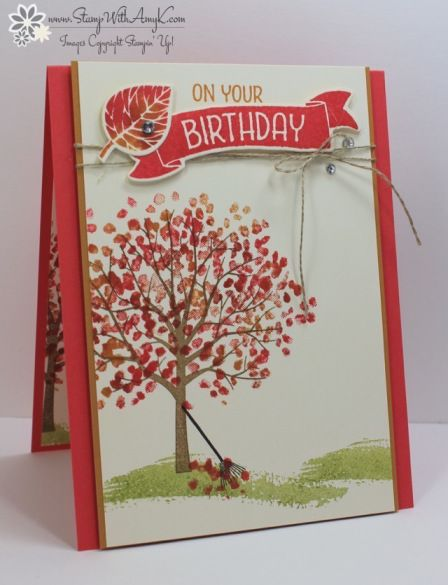 Stampin Up Sheltering Tree Fall Cards Pinterest Cards Card