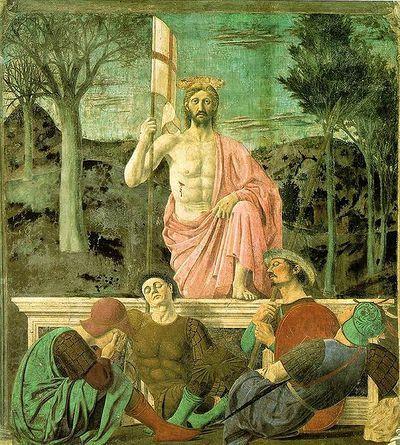 """""""No, non credo che Gesù sia risorto. Non credo che un uomo sia tornato dal mondo dei morti. Ma il fatto che lo si possa credere, e che io stesso l'abbia creduto, mi intriga, mi affascina, mi turba, mi sconvolge."""" #ilRegno @adelphiedizioni (Piero della Francesca - 1463)"""