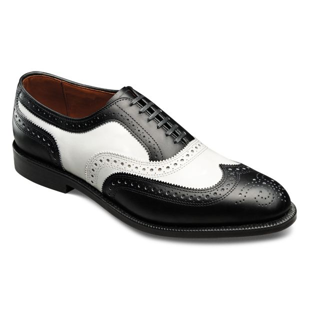 Allen Edmonds Broadstreet Spectator Wingtips (Black/White)