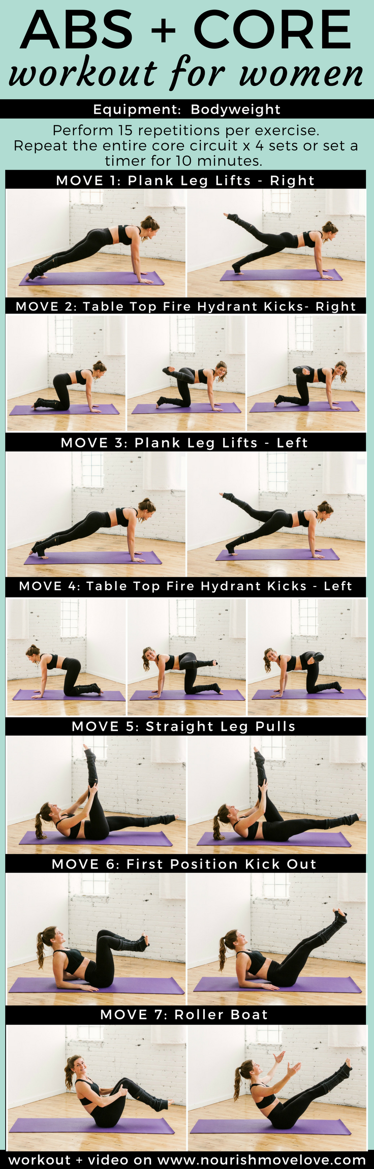 10 Minute Barre Core Workout Butt Abs Nourish Move Love Blog Timer Circuit I At Home For Women Exercises Ii