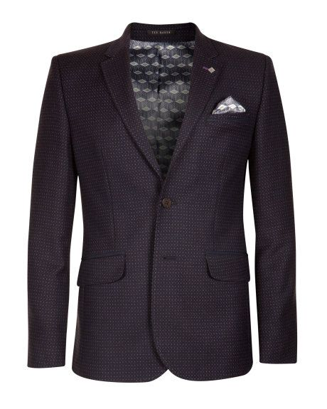 efe0c068c833e1 Wool patterned suit jacket - Purple