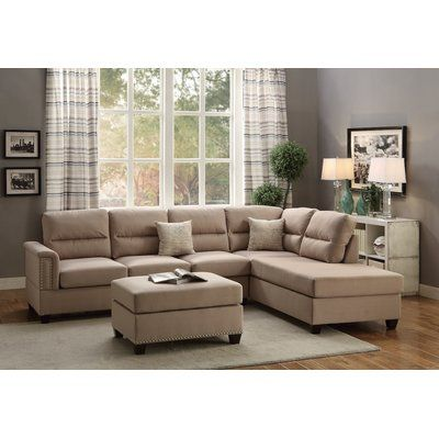 Reversible Sectional Wayfair Pinterest