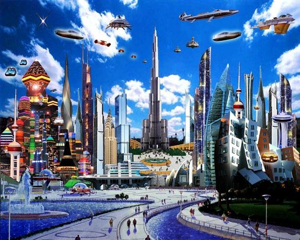 My Dream About Future India Drawings Google Search Futuristic City Future City Retro Futurism