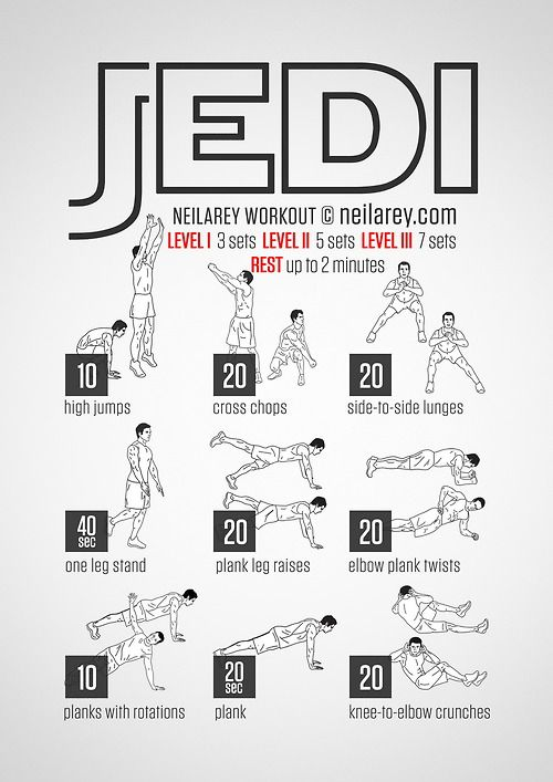 Jedi Workout - geeky workout routines