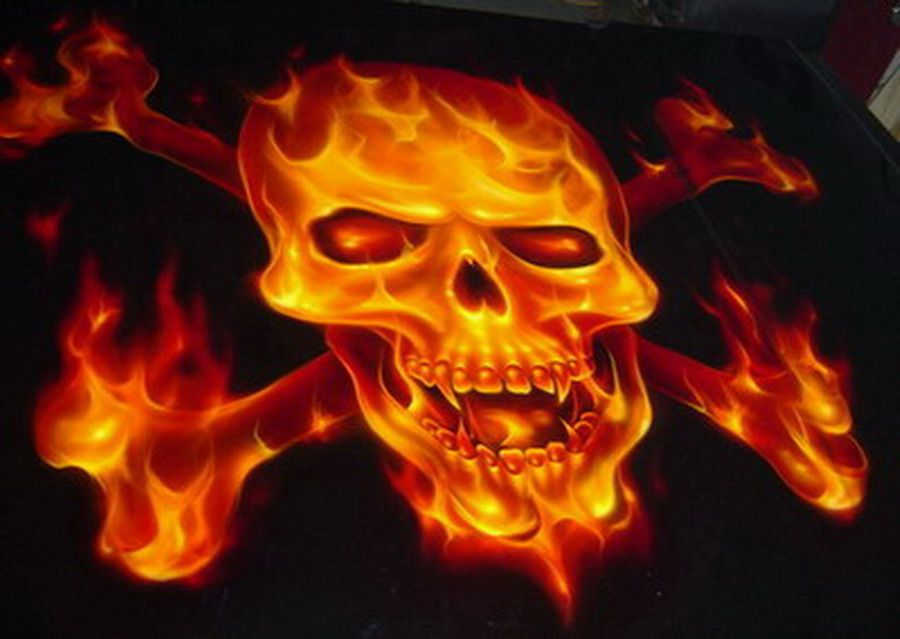 flames airbrush real flamesblue airbrush flamesghost