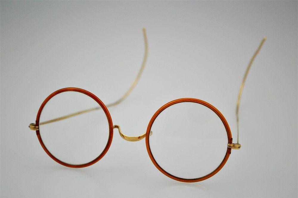 76c6b38ee Vintage Antique Round Windsor Eyeglasses John Lennon Gandhi | eBay ...