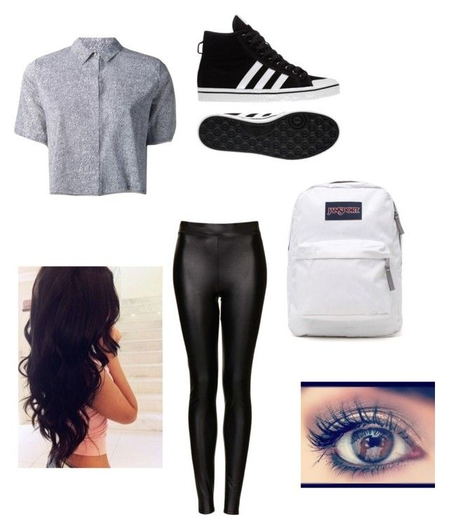 """""""Untitled #4"""" by jasmine-o28 ❤ liked on Polyvore featuring beauty, T By Alexander Wang, adidas, Topshop and JanSport"""