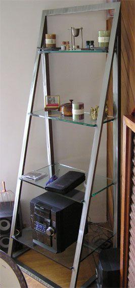 Metal And Glass Ladder Shelf House Lusts Shelves