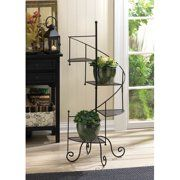 Vertical Metal Plant Stand 13 Tiers Display Plants Indoor or Outdoors on a Balcony Patio Garden or Use as a Room Divider or Vertical Garden Inside Your Home or Great for Urban Gardening (Dark Gray) - Walmart.com - Walmart.com