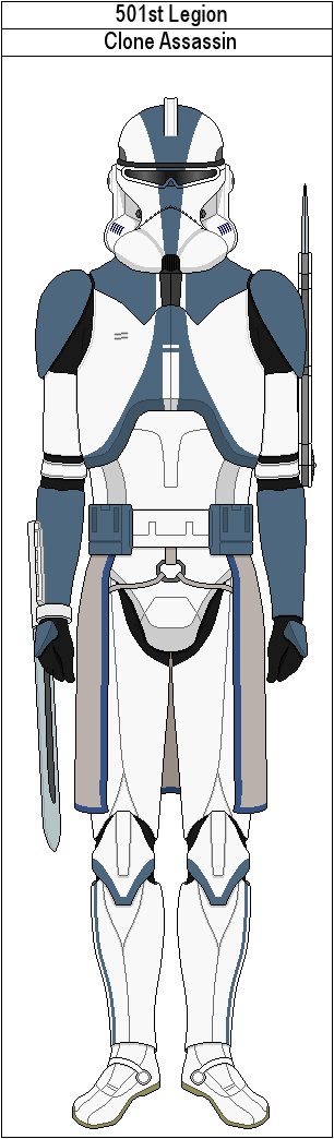 how to draw a 501st legion trooper