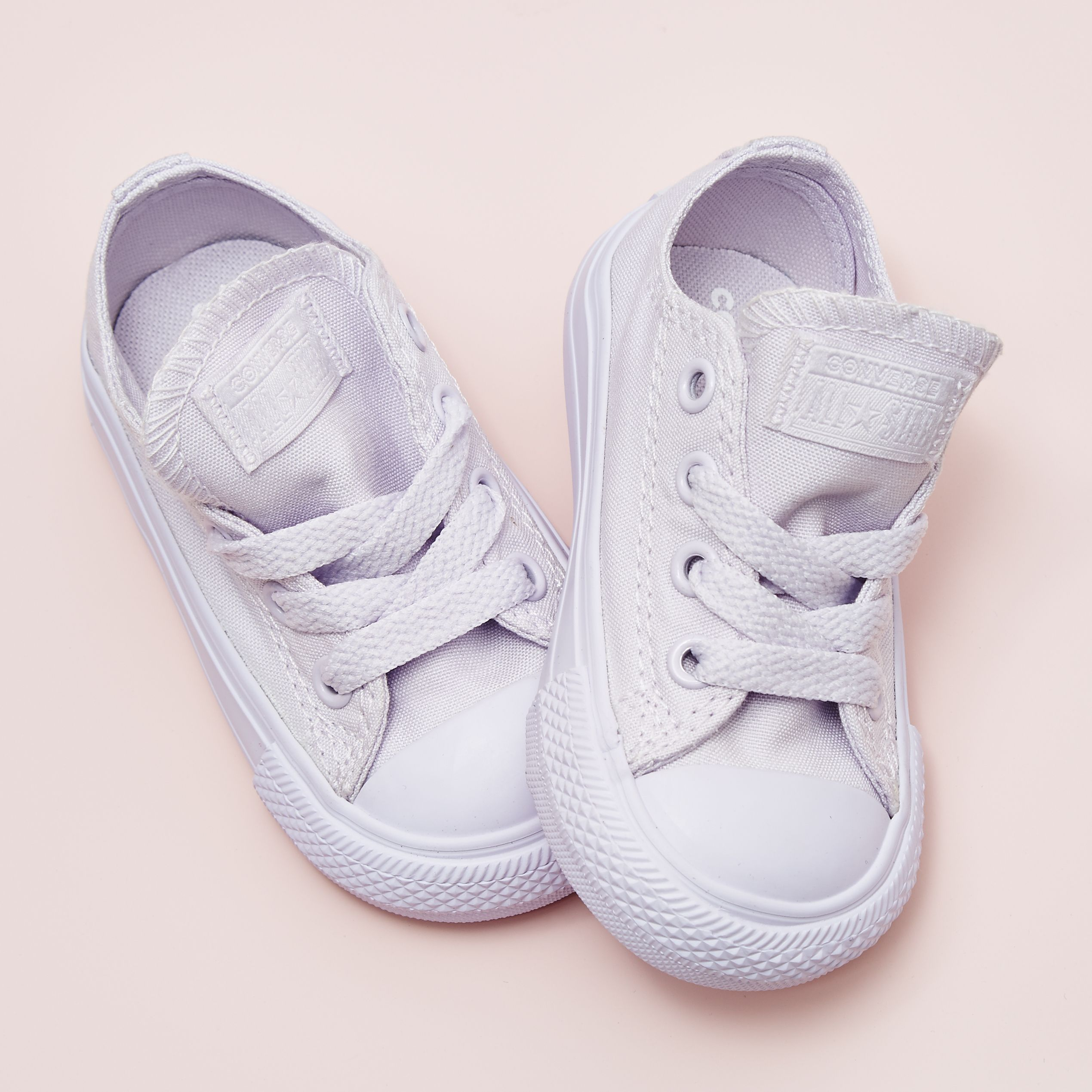 2fd2e6401324 We re just going to leave these cuties here........💘  converse All Star  Low Infant Trainers in Barely Grape Mono  Exclusive  kids  converse  friyay