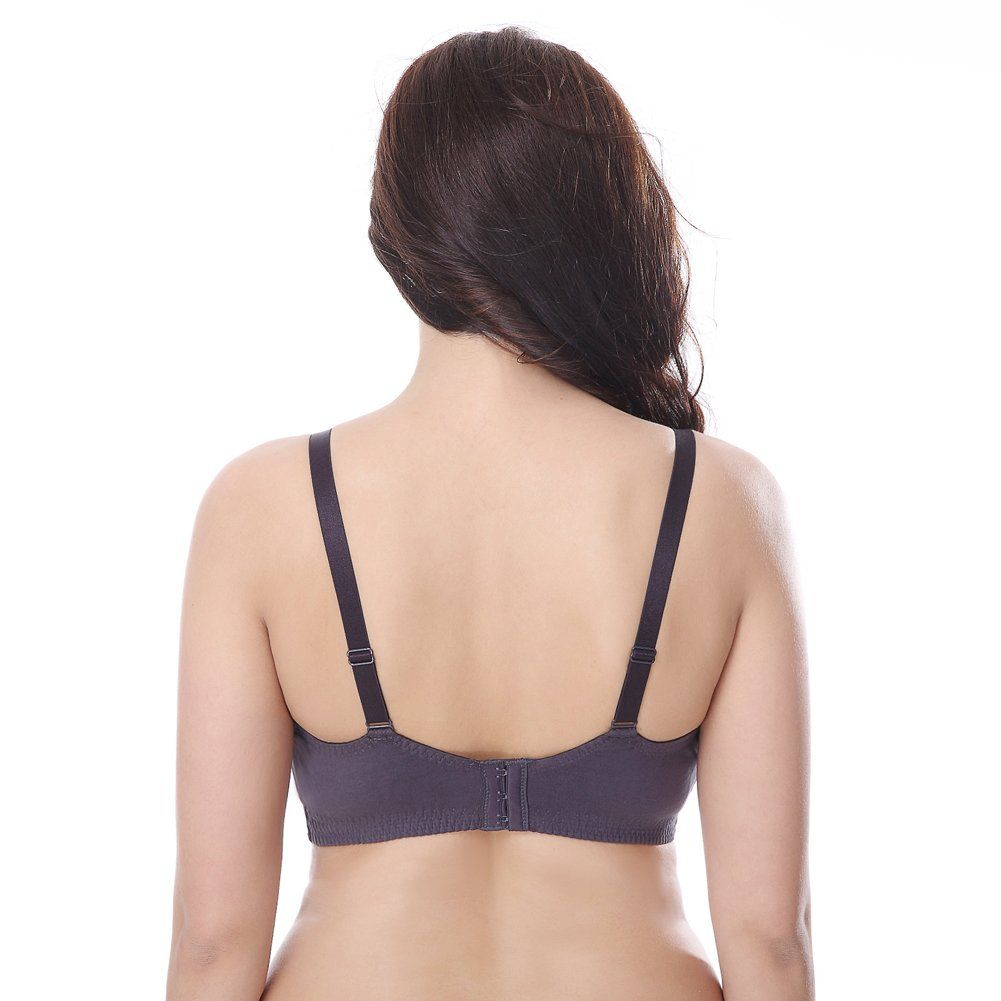 1e1dee7386 breastfeeding bra - Curve Muse Plus Size Nursing Cotton Unlined Wirefree  Bra with Lace Trim2 Or 3PKSlate White48D -- Check out the picture web link  more ...