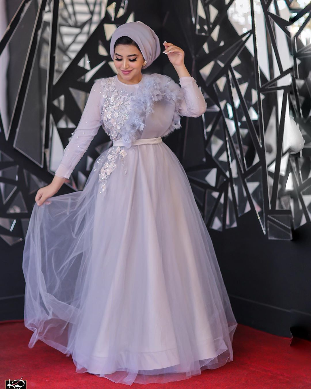 كل سنة وأنتم طيبين وعيد سعيد ومبارك عليكم جميعا Dress From Dalia Hamdy Haute Couture Photographe Soiree Dress Hijab Dress Party Tea Length Bridesmaid Dresses