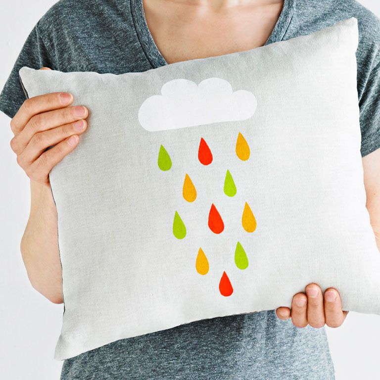 Transform a cushion with simple stencils and fabric paint. It's cheap, fast and fun! Image: Tracy Shumate