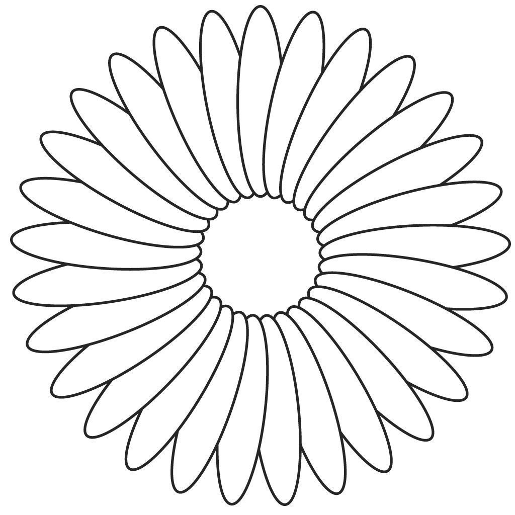 Large Printable Flower Coloring Pages Concept