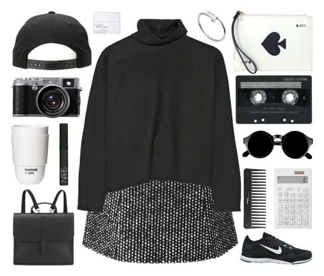 """""""Untitled #434"""" by chesire-catt ❤ liked on Polyvore featuring Ermanno Scervino, Marni, NIKE, Kate Spade, Danielle Foster, Retrò, ROOM COPENHAGEN, Muji, Sephora Collection and CASSETTE"""