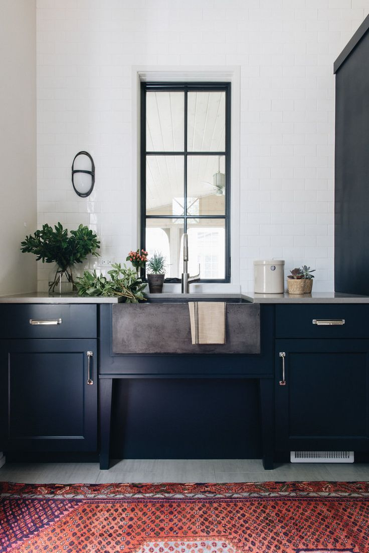 Native Trails' NativeStone Farmhouse 3018 sink stars in the mudroom of our dreams thanks to Kate Marker Interiors