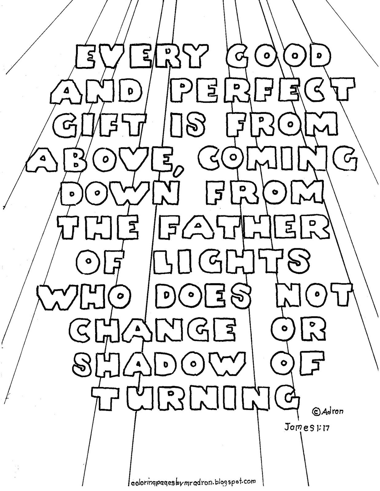 Coloring pages with bible verses - Coloring Pages For Kids By Mr Adron Printable Bible Verse Coloring Page James