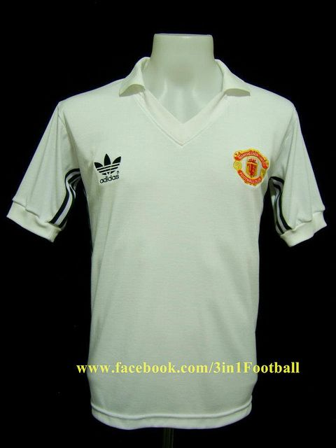 Manchester United 1980 Away Manchester United Retro Shirts Mens Tops