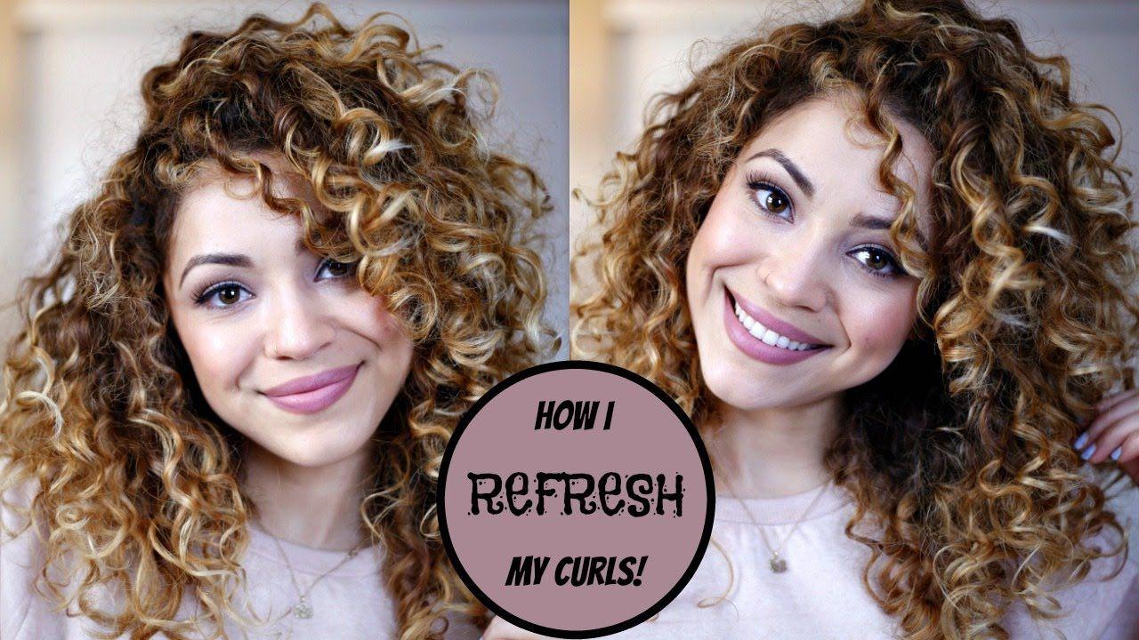How I Refresh My Curls Day 3 4 Hair Youtube Curly Hair Tips Curly Hair Styles Hair