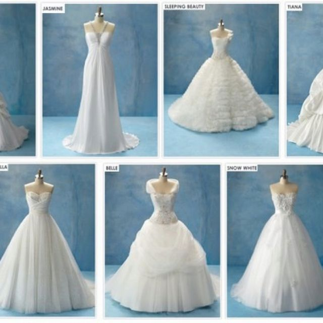 Wedding dresses like Disney princesses! How cute! | I Hear Wedding ...