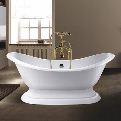 Chevington Willow 72 X 30 Freestanding Soaking Bathtub