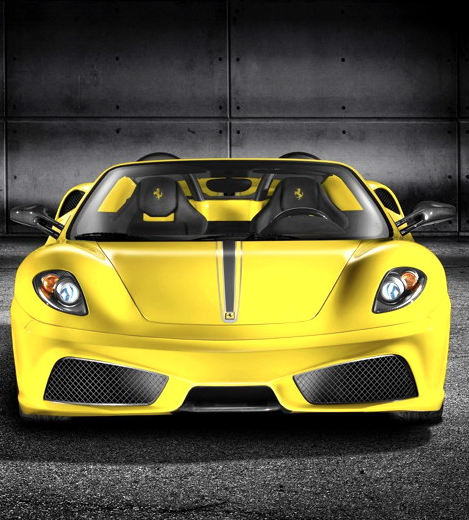 The Sexiest Car On The Planet Ferrari 418 In Bright Yellow