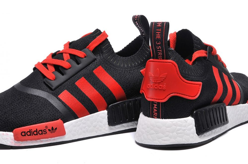 adidas originali nmd runner nero stivale rosso pinterest nmd