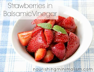 Fruit desserts are such a refreshing treat. And this one is truly unique. With the sweetness of fresh strawberries and a delicious zing of balsamic vinegar.