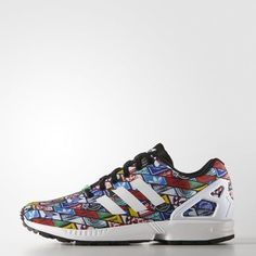 detailing 67294 3da71 Adidas Originals ZX Flux Logos Iconic Multi Color B24904