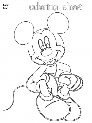 give a like for sitting mickey mouse printable coloring pages  coloring pages mickey mouse
