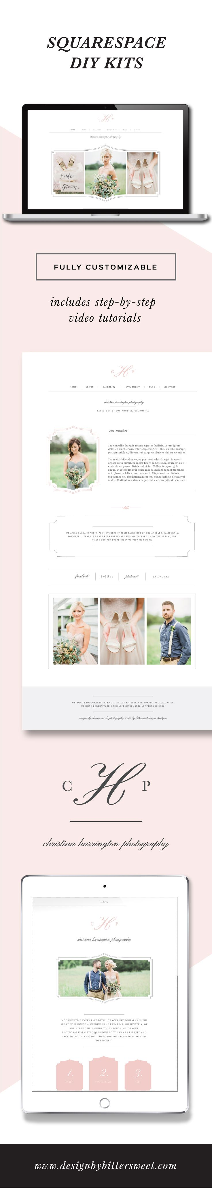 Photographer Squarespace Template Eucalyptus Photography Branding - Best squarespace template for photographers