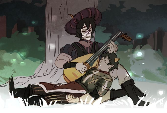"theyoungdoyley: "" The Knight and His Bard - Gamzee+Karkat """
